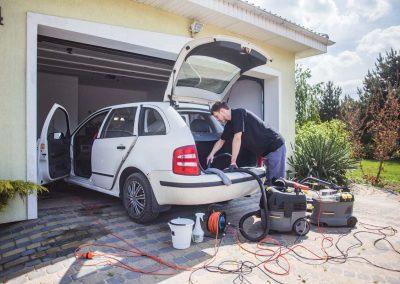 Czyszczenie auta Skoda Fabia