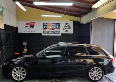 Audi S4 – Jednoetapowa korekta lakieru + wosk Soft99 + Pranie i czyszczenie wnętrza