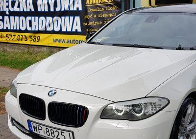 BMW 5 – Mycie detailingowe Jednoetapowa korekta lakieru Wosk Soft99