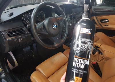 BMW 5 - Mycie detailingowe + korekta lakieru + Wosk Soft99 + Czyszczenie i konserwacje skór11