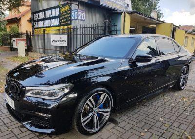 BMW 7 - Mycie detailingowe + wosk Soft99 + czyszczenie i zabezpieczenie skór