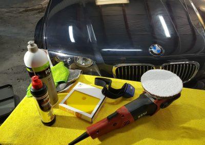 BMW X5 - Jednoetapowa korekta lakieru + wosk Soft 99 + detailingowe czyszczenie wnętrza